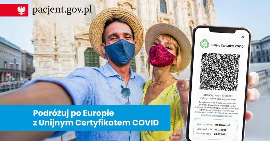 Unijny Certyfikat COVID (UCC) kod QR