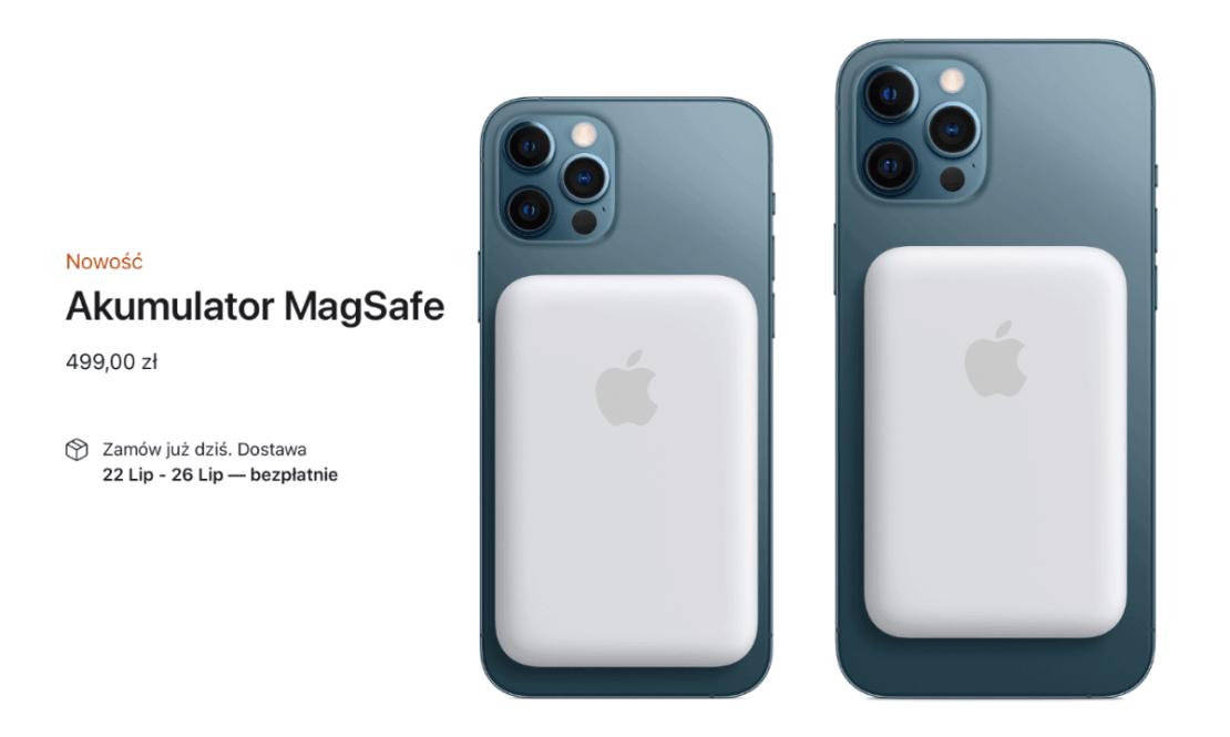 Akumulator MagSafe firmy Apple