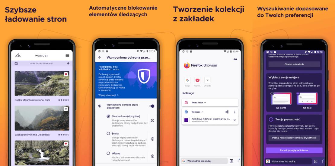 Firefox na Androida (zrzuty ekranów)