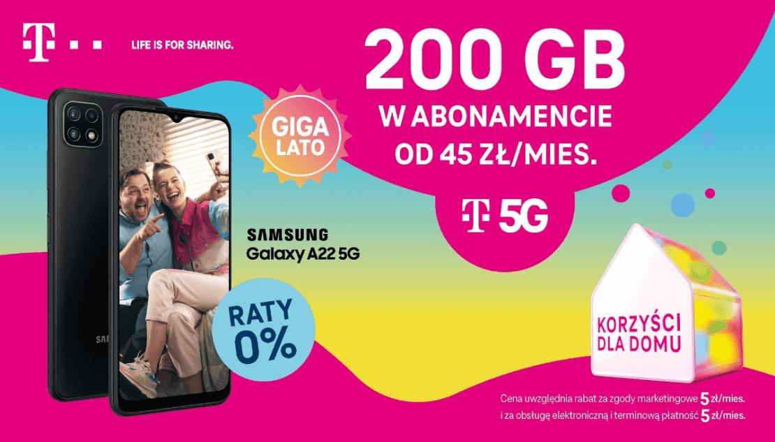 Oferta GIGAlato w T-Mobile z paczką 200 GB internetu (lipiec 2021)