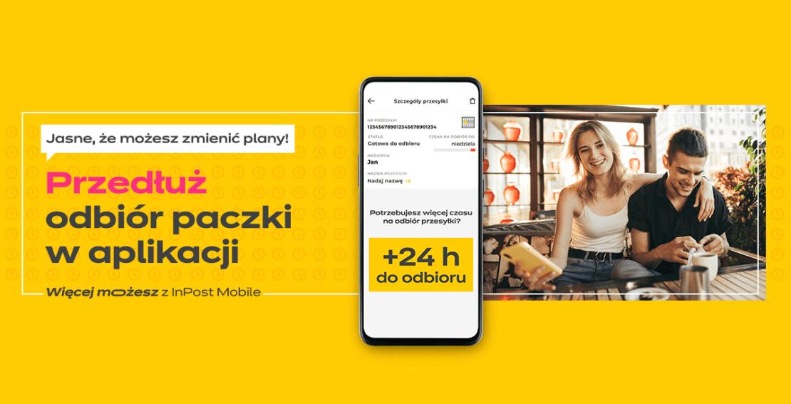 Przedłużanie czasu odbioru paczki z Paczkomatu o 24 h w aplikacji InPost Mobile