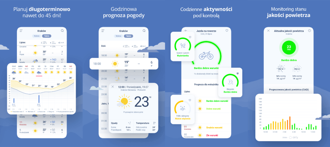 "Aplikacja ""Pogoda Interia"" na Androida"