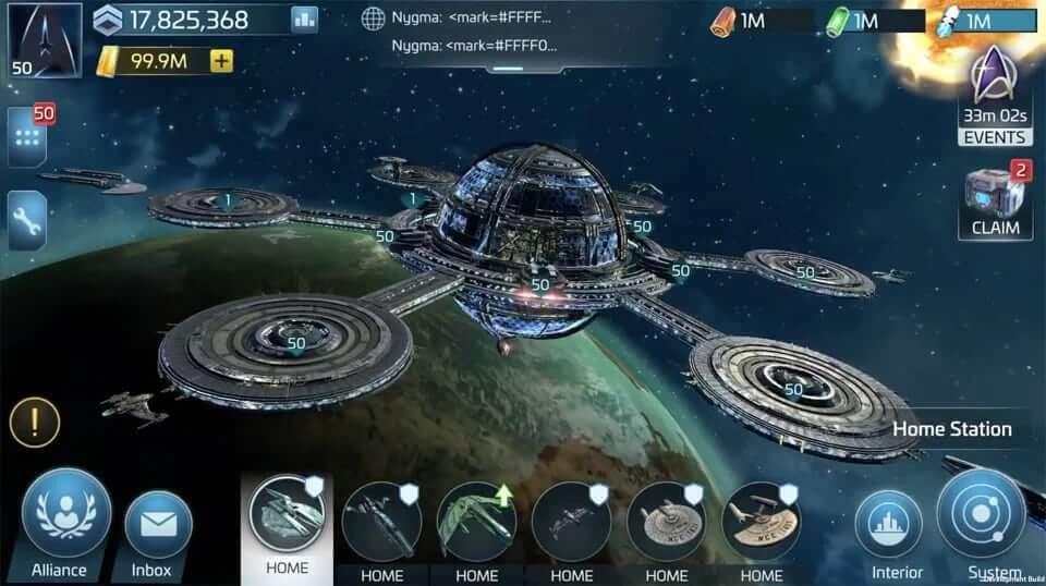 """Zrzut ekranu z gry mobilnej """"Star Trek Fleet Command"""""""