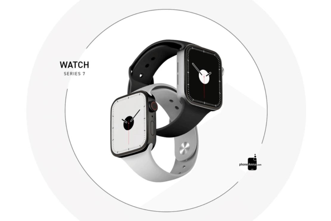 Apple Watch Series 7 - koncepcja (biały i czarny)
