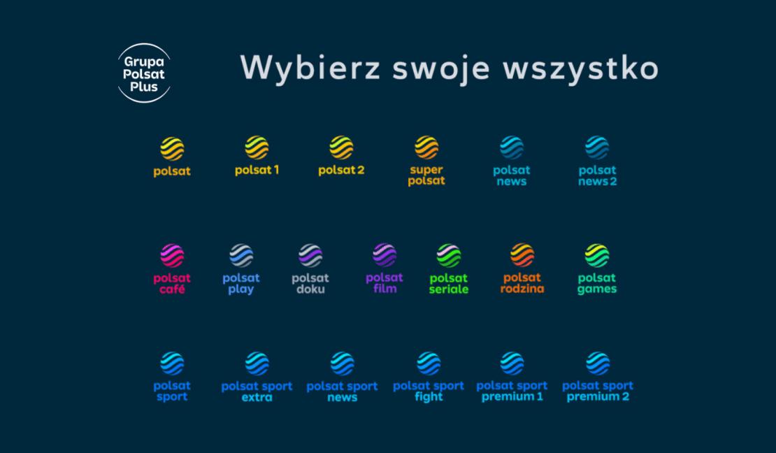 Nowe logotypy stacji tematycznych Polsatu (2021 rok)
