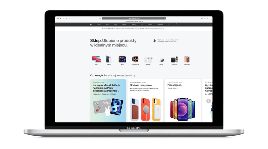 Nowy wygląd sklepu internetowego Apple Store