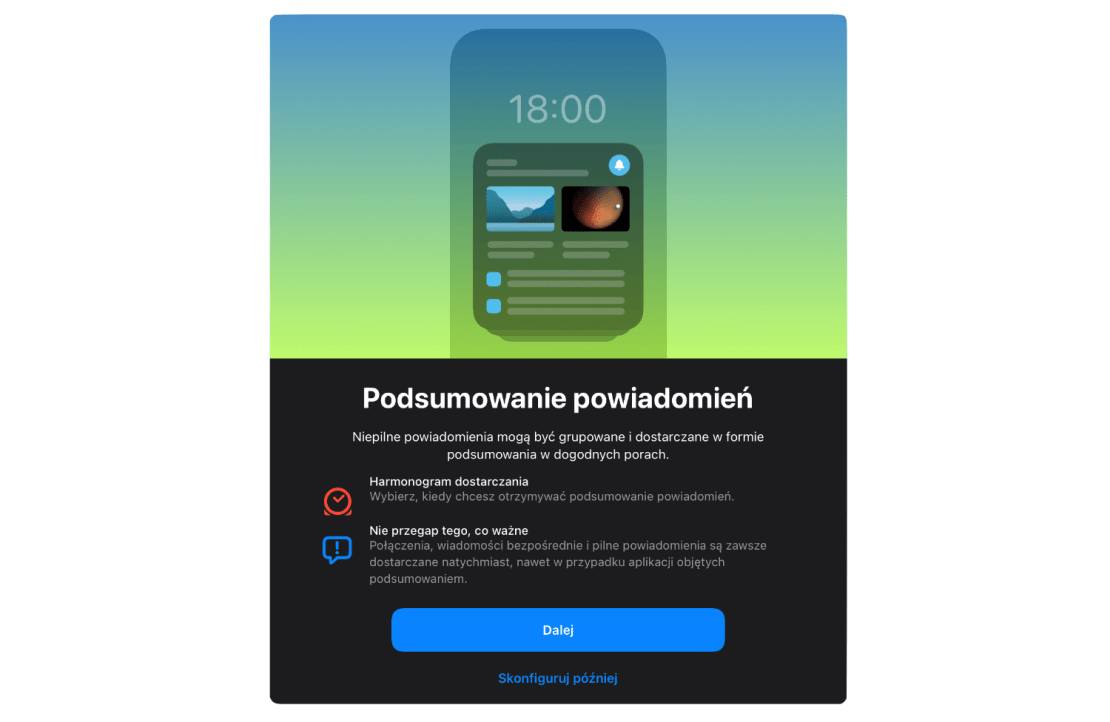 Podsumowanie powiadomień pod systemem iOS 15 i iPadOS 15
