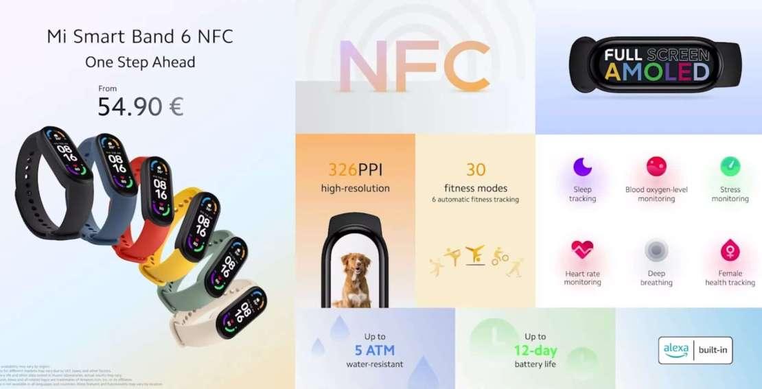 Mi Smart Band 6 z NFC w Europie