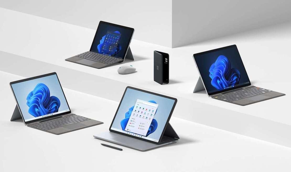 Rodzina urządzeń Microsoft Surface z 2021 roku