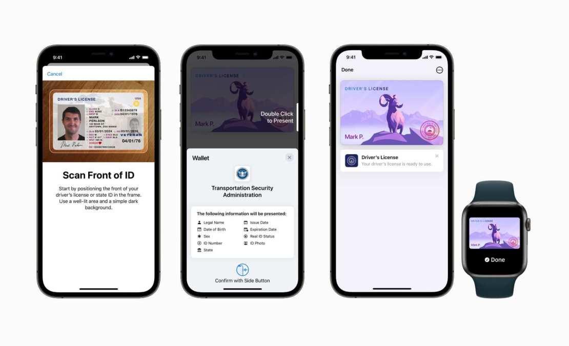 Prawo jazdy i dowód osobisty w aplikacji Wallet (iOS 15) w wybranych stanach USA