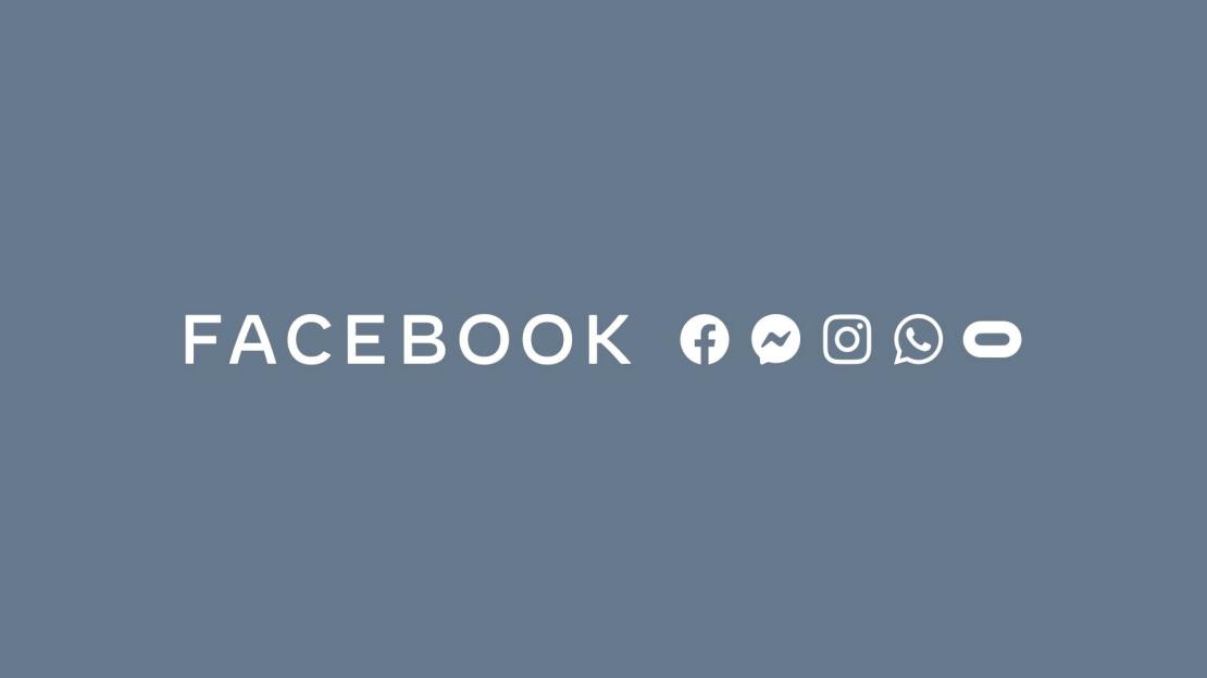 Logo Facebook z ikonami serwisów (na szarym tle)
