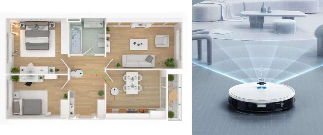 yeedi vac station – mapowanie mieszkania i wykrywanie przeszkód