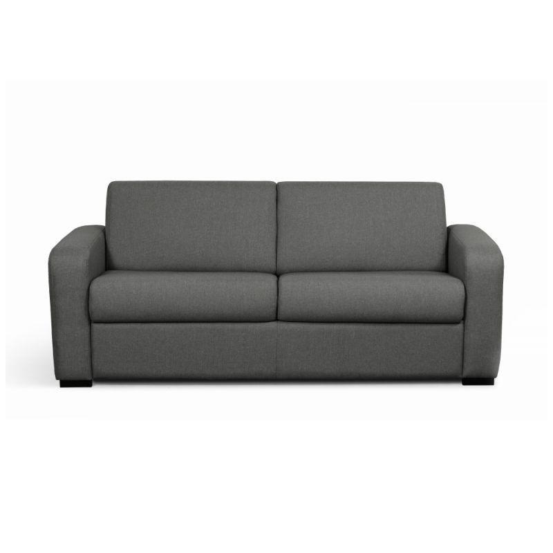 canape convertible systeme couchage express 3 places en tissu gris fonce 2 pas cher meuble a petit prix