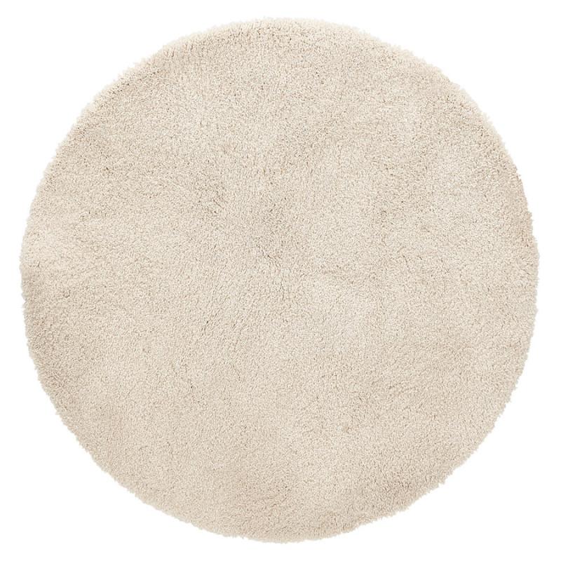 tapis rond design poal cream pas cher meuble a petit prix