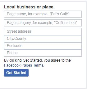 create a fb business page