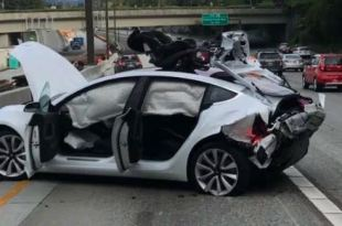 Tesla Model 3 got wrecked