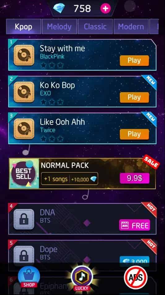 kpop piano