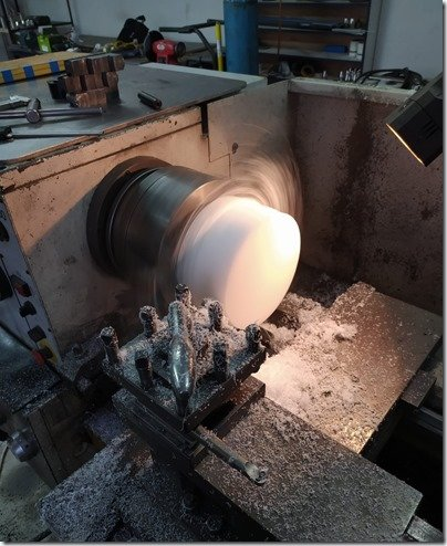 Turning Delring rudder bushing