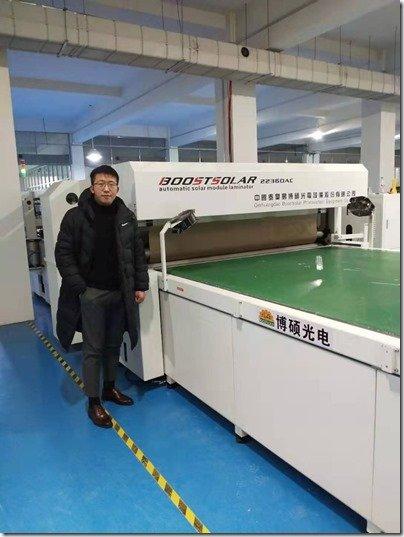 Lightech Solar Panels Arthur in front of machine