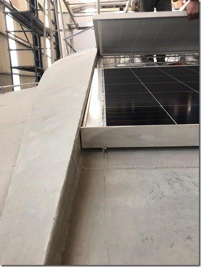 Front solar panels install 3