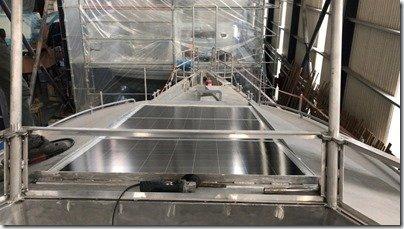 Front solar panels install 9