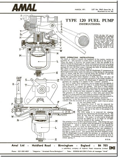Amal Lift Pump rebuild instructions pg1