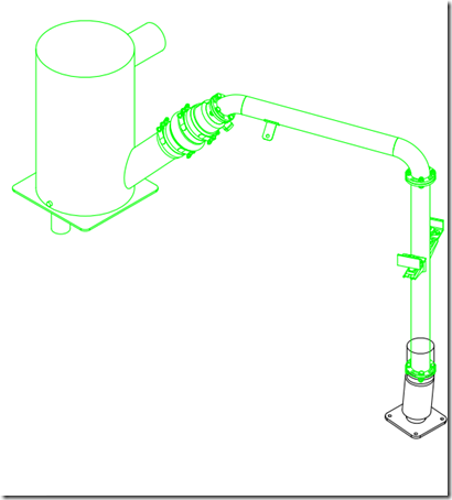 Halyard exhaust system isometric from Halyard