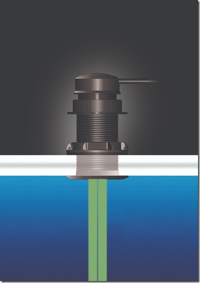 UDST dual ultrasonic beam illustration