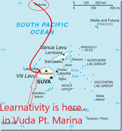 Rotuma island Fiji_map