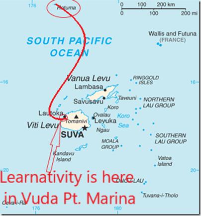 Rotuma island Fiji_map