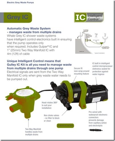 Whale Grey IC waste pump system