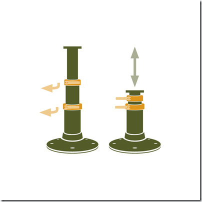 Zwaardvis Triton Deluxe pedestal