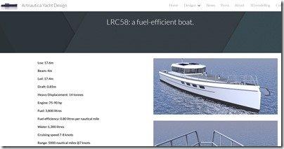 LRC 58 tech specs screen shot