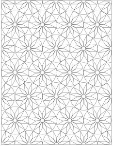 crochet blanket line drawing