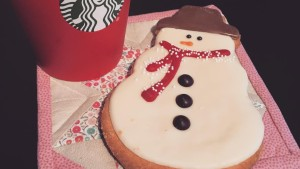 Peppermint mocha and snowman cookies? Don't mind if I do