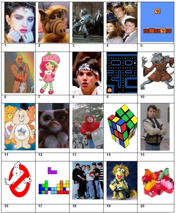 Picture Quiz 34 The Entertaining 80s