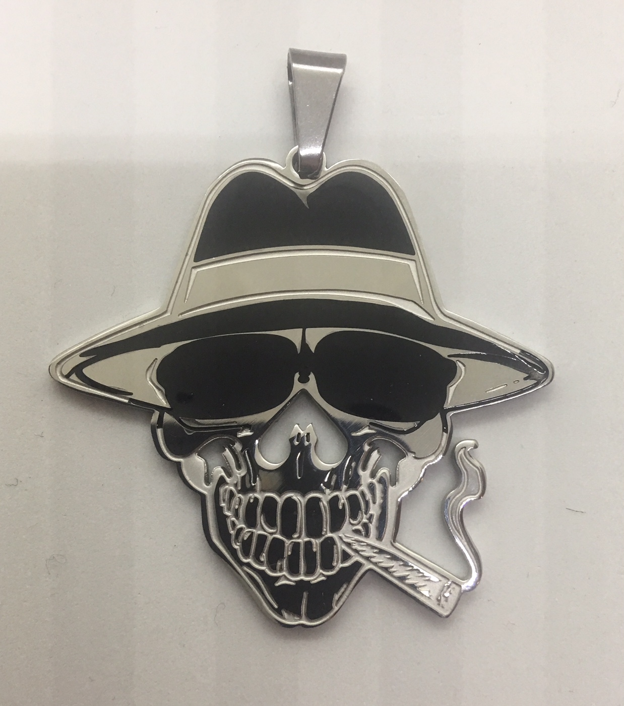 Mobstyle Music 2″ Smoking Joe Stainless Steel Charm