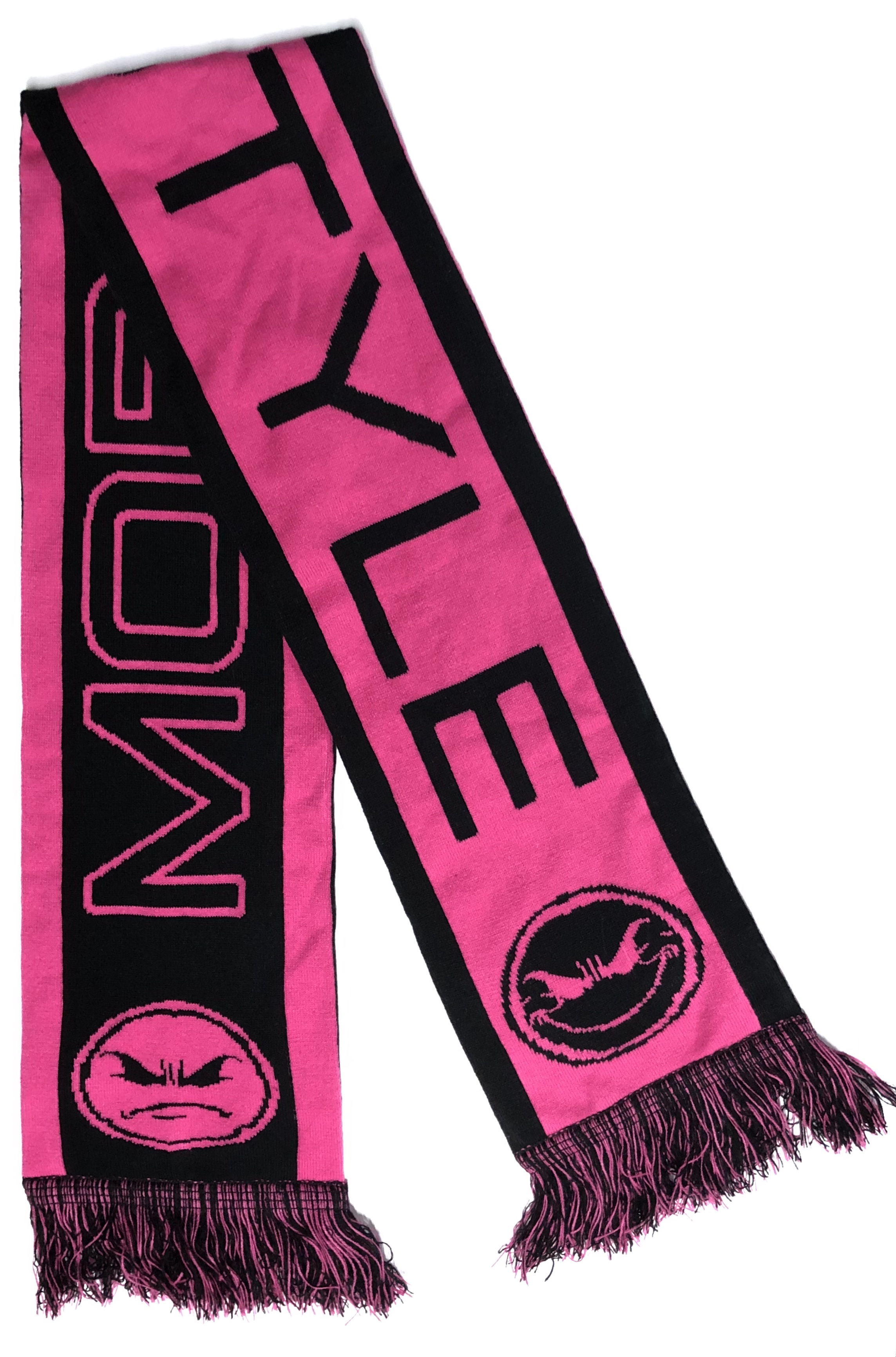"Mobstyle Knitted ""Mood Scarf"" (HOT PINK)"