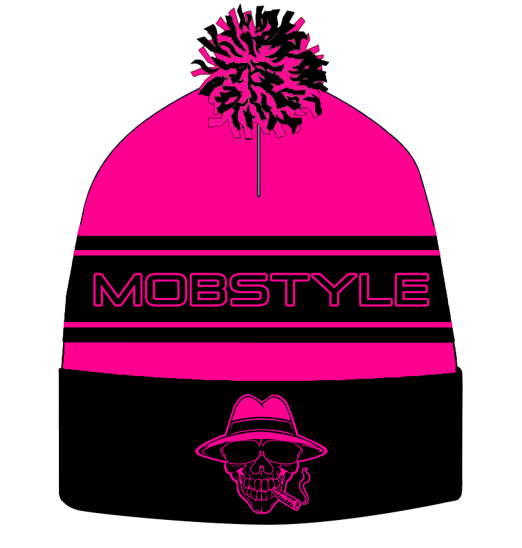Mobstyle Knitted Puff Ball Hat (HOT PINK) (pre-order)