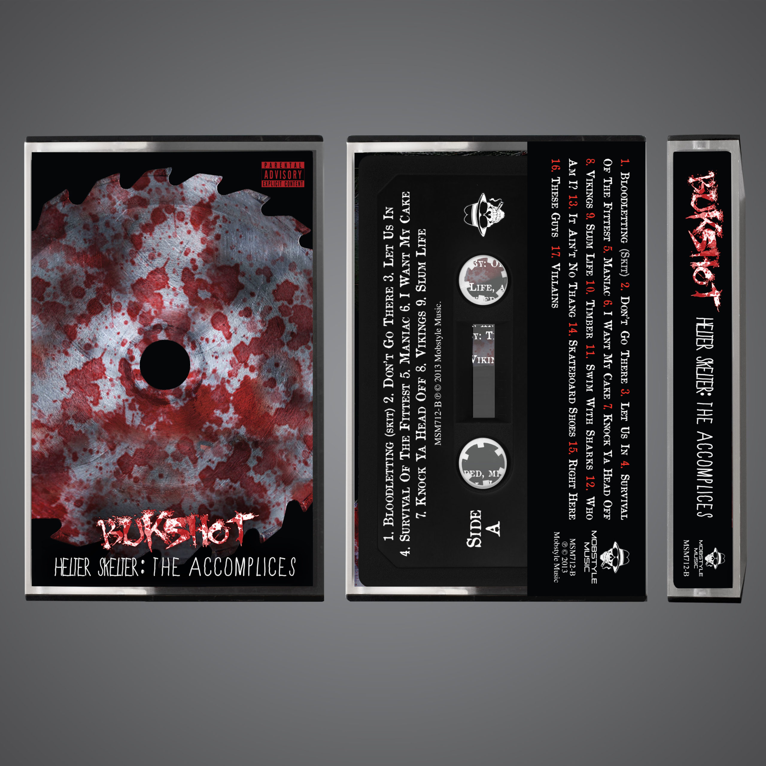 "Bukshot ""Helter Skelter: The Accomplices"" OG Cassette Tape! Limited To 100!"
