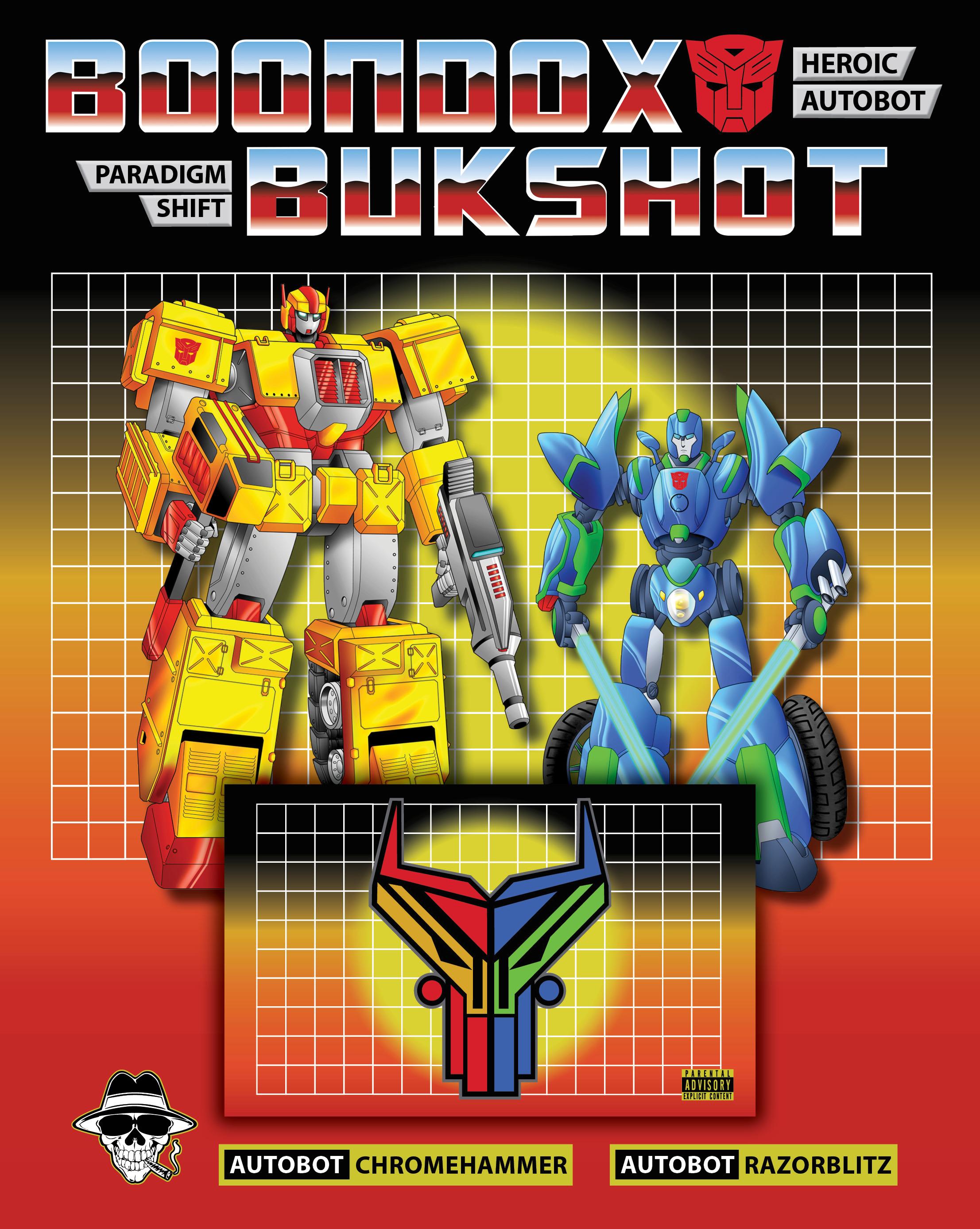 "Boondox X Bukshot ""Paradigm Shift"" Collectible Cassette Pack! AUTOBOT Version! (LIMITED To 25!)"