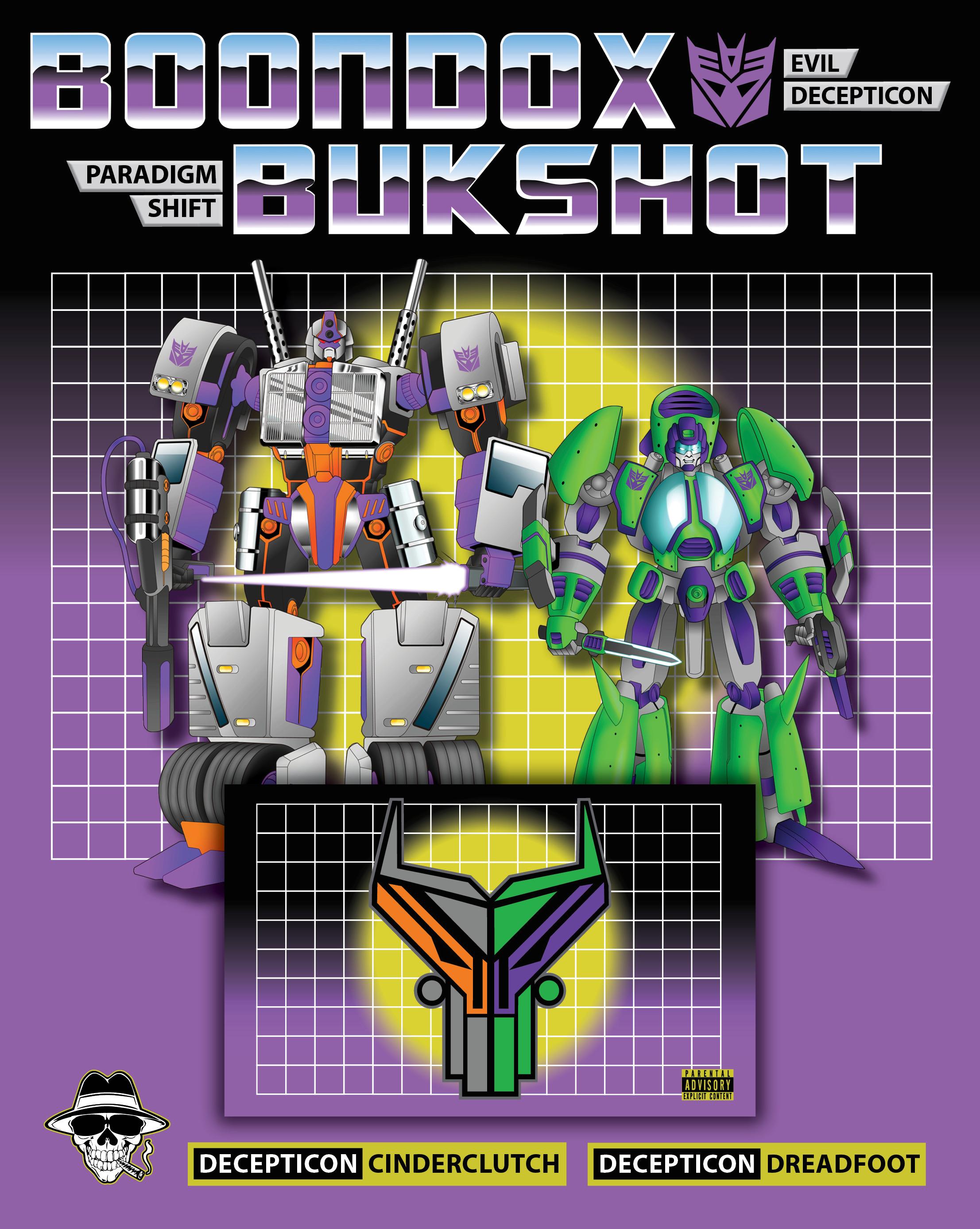 "Boondox X Bukshot ""Paradigm Shift"" Collectible Cassette Pack! DECEPTICON Version! (LIMITED To 25!)"