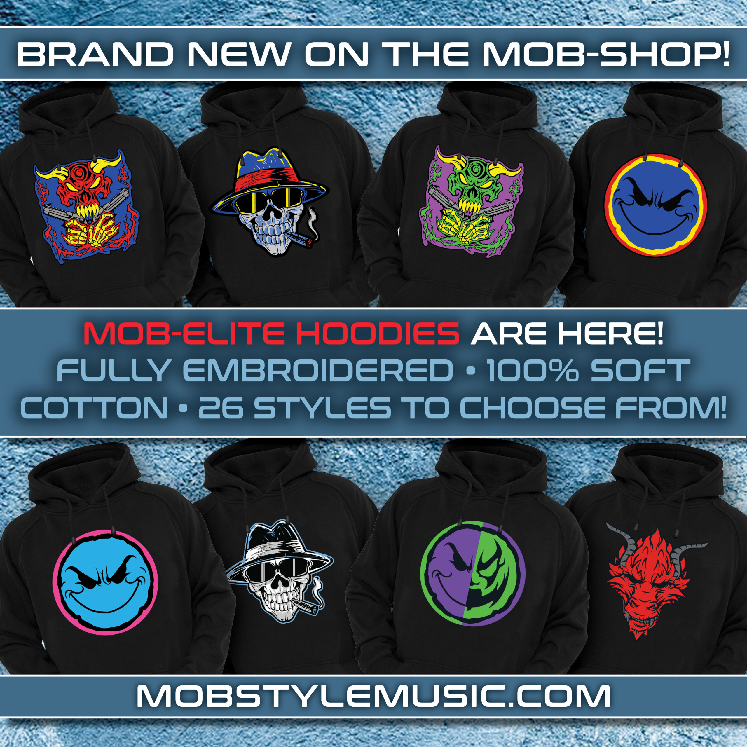 Mob-Elite Pull Over Embroidered Hoodie – 28 Styles To Choose From!