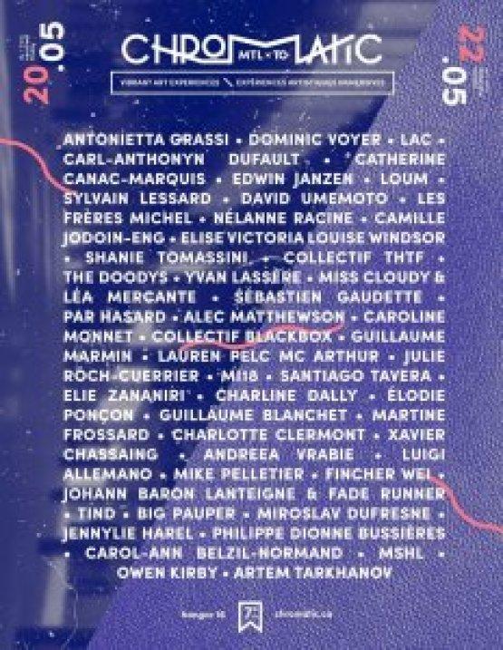 80 artistes Chromatic