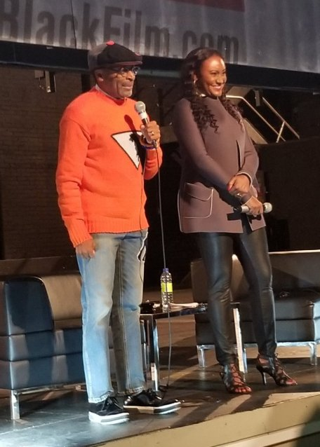 Spike Lee and Fabienne Colas