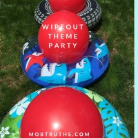 Obstacle Course Birthday Party:  Wipeout theme