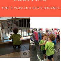 School shopping - with a son.  One boy's adventure.