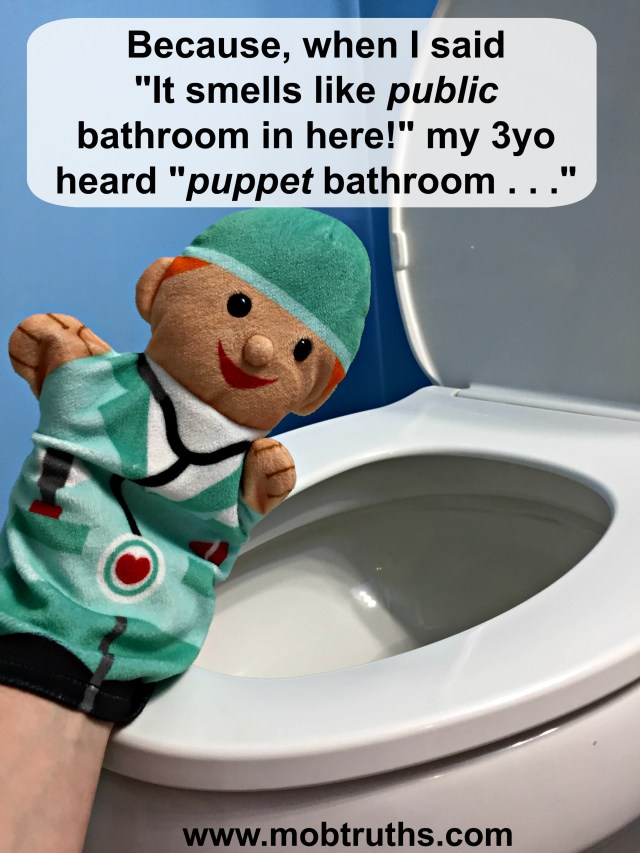 public bathroom puppet bathroom