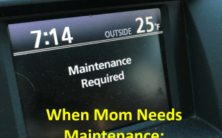 Even moms need maintenance sometimes. Self care for sanity.