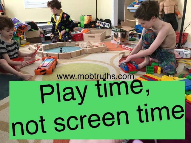 Occupying kids of different ages, no screens involved